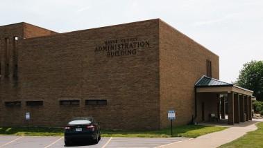 northeast corner of the admin building