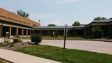 north side of admin building