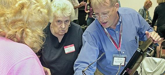 Wayne County Board of Elections Deputy Director Rich Corfman conducts training