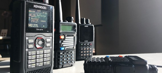 Amateur radios sitting on table