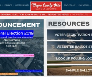 Wayne County Board of Elections Website Screenshot