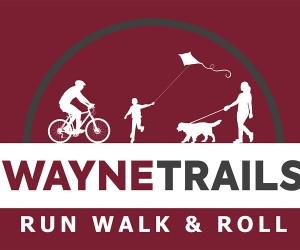 Wayne Trails Walk Run and Roll Logo