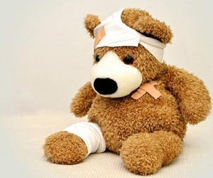 Plush Bear with Bandages