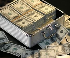 Hundred Dollar Bills In Box