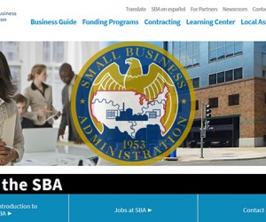 Image of the SBA website