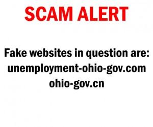 Scam alert notice that lists websites