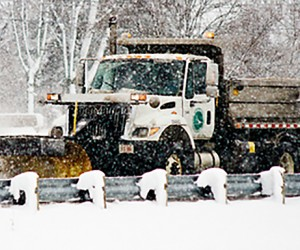Ohio Department of Transportation Snow Plow In Winter