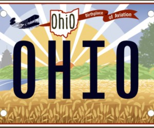 Rendering of the new Ohio license plate.