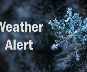 Winter Weather Alert Graphic Containing A Snowflake and the Words WEATHER ALERT