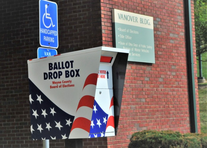 Ballot Box at the Wayne County Board of Elections