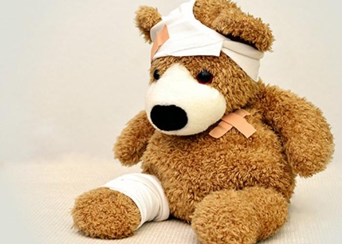 Plush Bear with Bandages