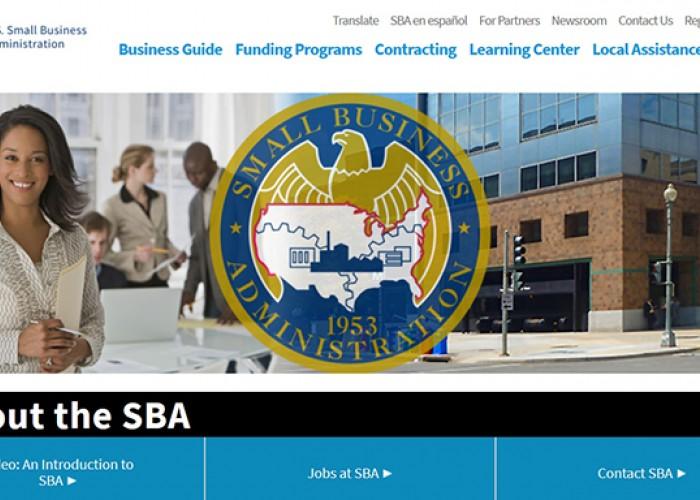 Image of the SBA website