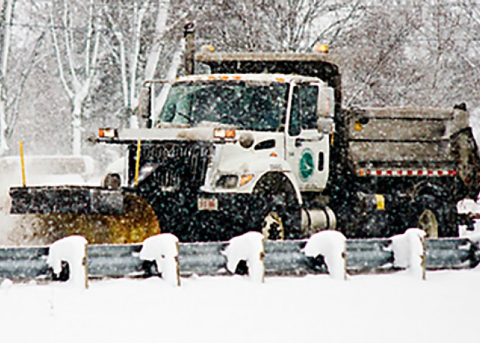 Ohio Department of Transportation Snow Plow In Winter