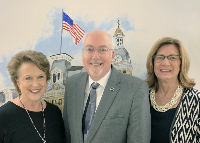 Wayne County Commissioners Becky Foster, Ron Amstutz and Sue Smail