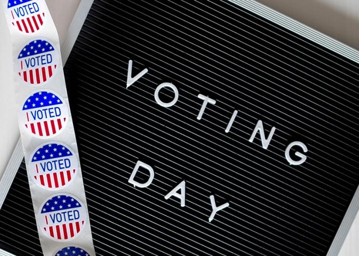 Voting Day Bulletin Board